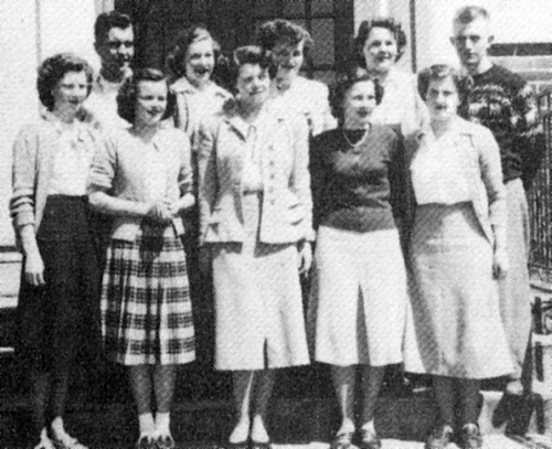 FRONT ROW: K. Brown, J. Pearson, B. Blanchard (Editor), A. McKnight, E. Johnson; BACK ROW: R. Belfry, K. Crosby, L. Eade