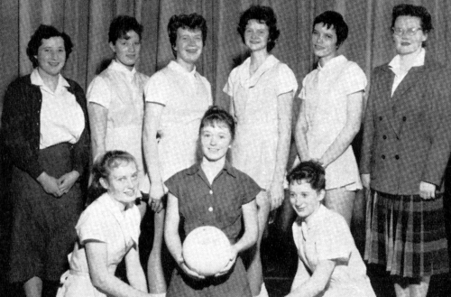 (Click to magnify) FRONT ROW: P. Hickling, K. Taylor, A. McGuire; BACK ROW: Irene Salmon, G. Foote, M. Lickiss, D. Kenne