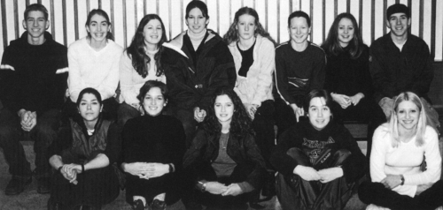 (Click to magnify) FIRST ROW: Megan Catrone, Alicia DeJak, Jennifer Imrie, Beth Wells, Dale Chaplin; BACK ROW: Brad Mill