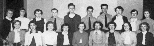 (Click to magnify ... poor quality original) FRONT ROW: N. Feir, Art Ed.; R. Hockley, E. Johnson, Lit. Eds.; B. McDonald