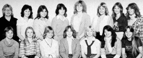 (Click to magnify) FRONT ROW: Jannine Ferguson, Roxanne Greenhalgh, Edie Hope, Sharon Giles, Jo-anne  Hope, Melissa Forr
