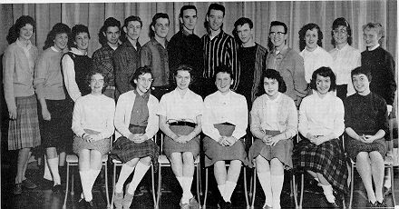 (Click to magnify) Front Row: D. Brandon, P. Leek, K. Pickering, M. Wood, S. McLean, H. McTavish; ***Back Row: D. Kenned