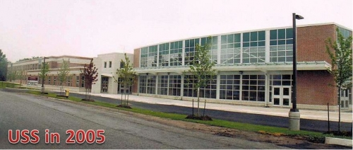 Spring 2005 - new addition to USS. (Click to enlarge) Original building is at the far left.
