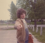 'Don't you take that picture!' - Dave Auger in the student parking lot.  ~1984