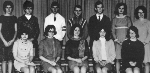 (Click to magnify) ... FRONT ROW: B. Nolan, J. Erickson, B. Hope, B. Dowswell, S. Andrews  BACK ROW: H. Wilson, C. Parad