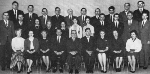 (Click to magnify) FRONT: Mrs. Hewitt, Mrs. Bradbury, Miss Moote, Mr. Rattray, Mr. Bernhardt, Mr. Brunne, Mrs. Wires, Mi