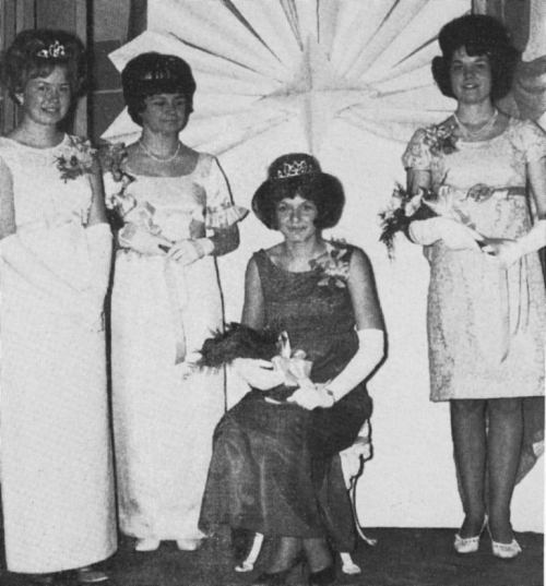 (Click to magnify) from left to right - Lorraine Smith, Charlotte Mercier, Betty Anne Foote (seated) & Beverly Hope.