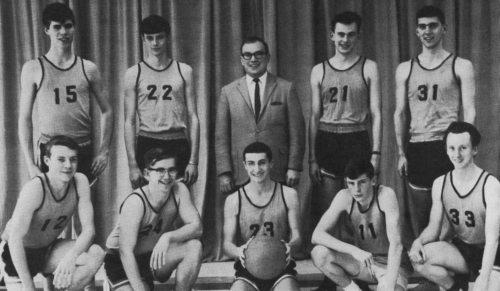 (Click to magnify) FRONT ROW: Ivan Geer, John Yandt, Wayne Foote, Rod Adamson, S. Callaghan; SECOND ROW: Larry Manley, B