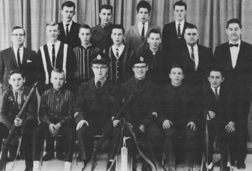 (Click to magnifiy) FIRST ROW: B. Tipton, A. Leask, M. Ross, J. Armstrong, J. Simpson, D. Moore; SECOND ROW: Mr. Smith,
