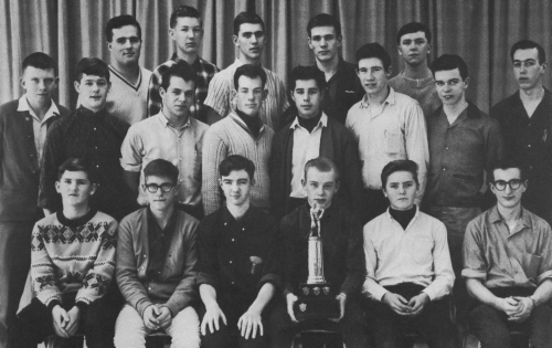 (Click to magnify) FIRST ROW: J. Cowan, C. Durham, Ray O'Brien, Al Lyons, R. Bain, Pete Rabin; SECOND ROW: Ian Leask, L