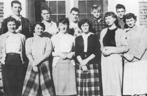 (Click to magnify) FRONT ROW: M. Rodd, A. Calbeck, D. Croxall, R. Hochberg, A. Hendrickson, P. Farrell; SECOND ROW: H. S