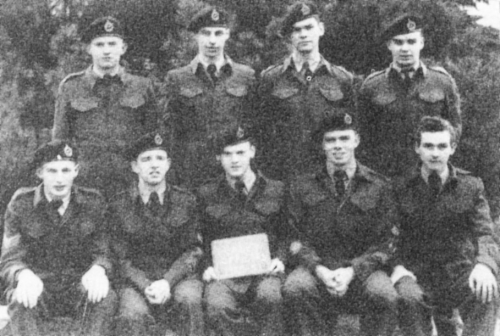 (Click to magnify) FRONT ROW: H. Fawns, G. Smith, R. Linton, G. Turner, R. Palmer; BACK ROW: D. Shier, W. Lockie, B. Lee