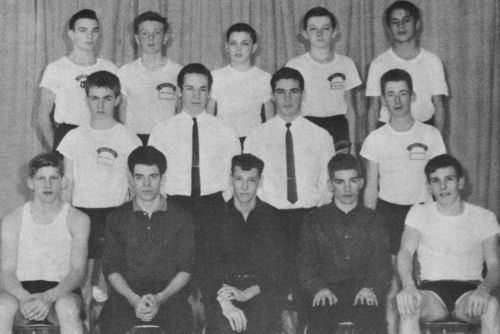 (Click to magnify) FRONT ROW: E. Vandenberg, G. Beacock, Brian Myers, Keith McFarlane, Gord Whitney; SECOND ROW: C. Wils