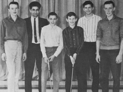 (Click to magnify) FRONT ROW: Ivan Geer, Mike Morrison, Ted Ballanger, E. Dixon; SECOND ROW: M. Salerno, Ed McGillivray;
