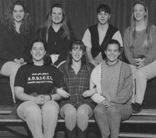 (Click to magnify - multiple levels of magnification) FRONT ROW: Sheri Beardon, Lindsay Connell, Dana Dufton; BACK ROW: