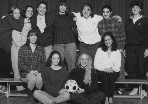 (Click to magnify) FRONT ROW: Lindsay Connell, Maggie Evans, Sarah Armstrong, Stephanie Melnyk; SECOND ROW: Jill Balling