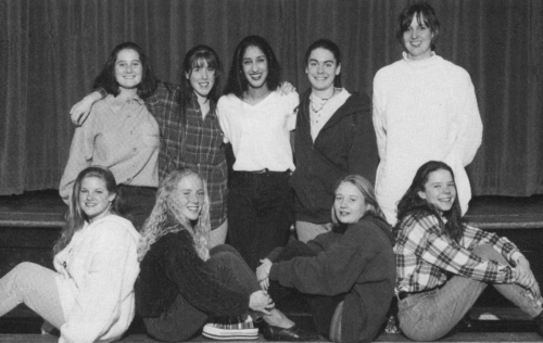 (Click to magnify) FRONT ROW: Sarah Armstrong, Jill Ballinger, Sarah Vinnels; SECOND ROW: Beverly Cornish, Lindsay Conne