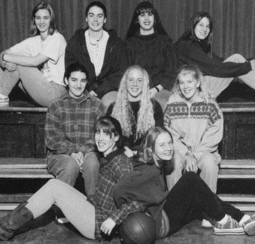 (Click to magnify) FRONT ROW: Lindsay Connell, Jill Ballinger; SECOND ROW: Quenby Barris, Sarah Armstrong, Sabrina Rusco