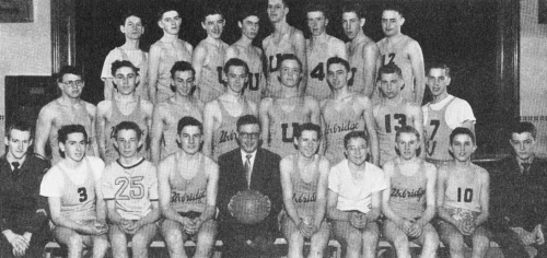 (Click to magnify) Again, poor quality original ... FRONT ROW: J. Ansell, G. More, Bantam Capt., A. Irwin, R. Elliot, Mr