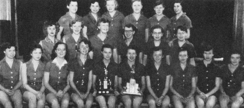 (Click to magnify) Very poor original ... FRONT ROW: E. Ball, G. Wood, G. Taylor, F. Williams, A. Meyers, Sr. Capt., M.