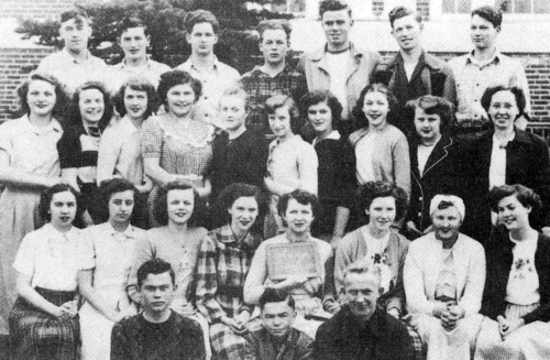 (Click to magnify) FRONT ROW: John Cook, Gordon Curl, Ross Hill; SECOND ROW: Mary McKnight, Barbara Horn, Jeanne Pearson