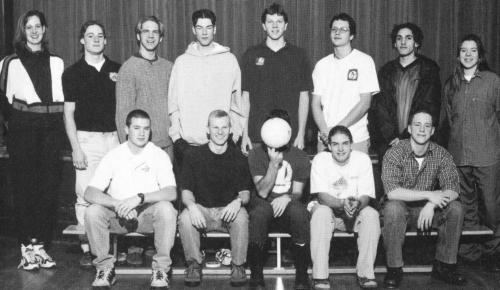 (Click to magnify) FRONT ROW: Josh Lake, Jay White, Patrick Sullivan (head obscured by ball), Tye Sproules, Garnet Peirs