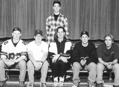 (Click to magnify) FRONT ROW: Jay White, Dan Banks, Ms. Dobson, Sean Bush, Wes Holden; BACK ROW: Jarred Lehman.