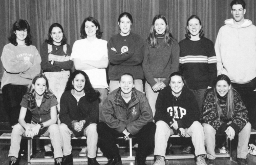 (Click to magnify) FIRST ROW: Shayna Segal, Sarah Abrahams, Katy Ballinger, Katy Peck, Julia Peters; BACK ROW: Ms. Dicks