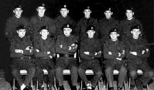 (Click to magnify)  FRONT ROW  R. Shier(Lieutenant), J. Feir, (Lieutenant), M. Rothwell, Captain), B. Yake(Major), K. Th