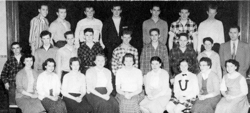 (Click to magnify) FRONT ROW: L. Chase, M. Stiner, B. Symes, J. Carlin, E. Oldham, J. Lonsdale, Diane Hemington, R. Coll