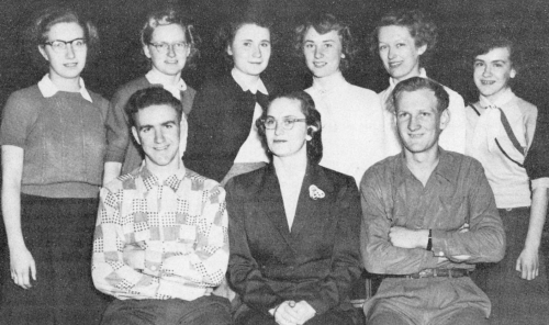 (Click to magnify) FRONT ROW: K. Wilson (president), Ms. Lennox, A. Maye; BACK ROW: L. Cullingham, G. Simpson, M. Rose,