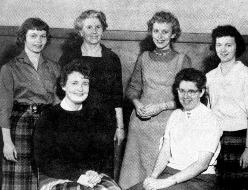 (Click to magnify) FRONT ROW: C. Sheehy, J. Shier; ***BACK ROW: P. Leek, Ms. Hewitt, D. Moore, L. Chase.