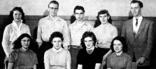 (Click to magnify) FRONT ROW: E. Noble, G. Wagg, S. Drummond, M. Smalley; ***BACK ROW: N. Drummond, G. Noble, R. Montgom