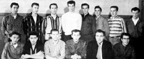 (Click to magnify) FRONT ROW: K. James, P. Nesbitt, L. Taylor, J. Campbell, Mr. Ray Newton, D. Arbuckle; ***BACK ROW: G.