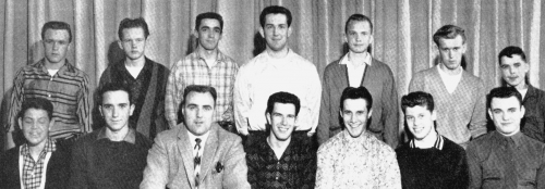 (Click to magnify) FRONT ROW: Doug St.John, Ross Stevenson, Mr. Ray Newton, Derek Arbuckle, G. Barton, M. Angell, G. Fer