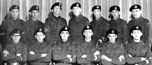 (Click to magnify) FRONT ROW: Sgt. Major D. Arbuckle, Lt. J. Sargeant, Major J. Kennedy, Captain J. Campbell, Lt. C. Tod