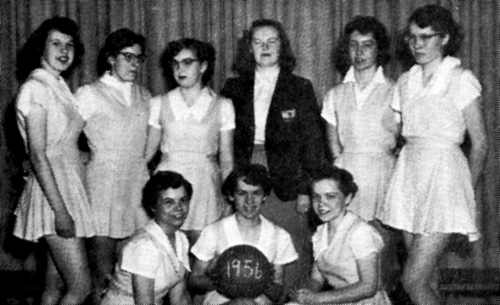 (Click to magnifiy) FRONT ROW: D. Montgomery, V. Noble, J. Snoddon; ***BACK ROW: M. Slack, J. Shier, M. Wallace, Mrs. Jo