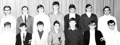 (Click to magnify) FRONT ROW: L. Geer, P. Beach, G. Cowan, J. Barton, Barry Acton, J. Scott, S. Diltz; ***SECOND ROW: P.