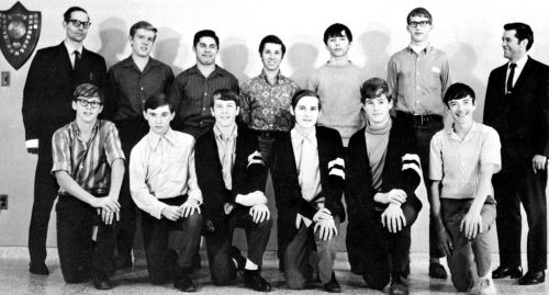 (Click to magnify) FRONT ROW: J. Vandenburg, B. Bickle, M. Hall, B. Baker, B. Gouweleeuw, R. O'Beirn; ***SECOND ROW: Mr
