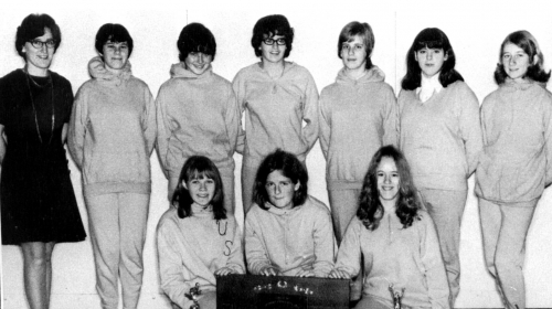 (Click to magnify) FRONT ROW: C. Huntingford, E. Home, D. Geer; ***BACK ROW: Ms. K. Trenka, B. Kennedy, J. Pearson, Dawn