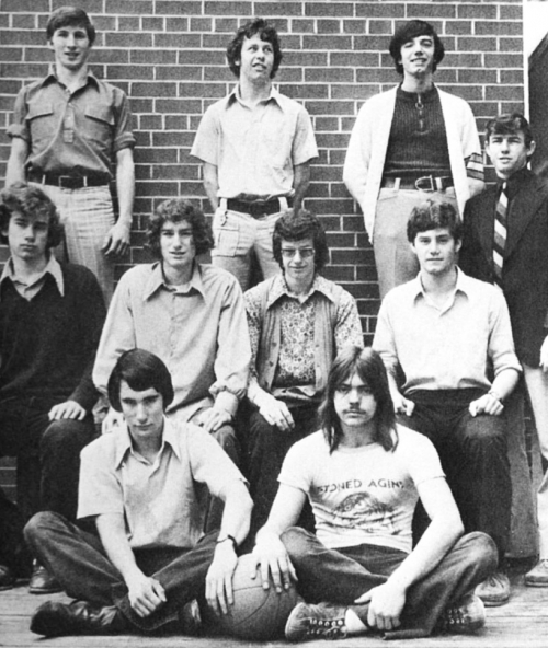 (Click to magnify) FRONT ROW: D. Leek, Garnet Poole; ***SECOND ROW: A. deBoer, Mike Strobel, Peter Ovens, B. Gouweleeuw;