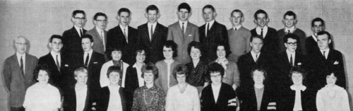 (Click to magnify) FRONT ROW: L. Ashton, N. Bernhardt, J. Hickling, A. Sweetman, M. Vanderwal, D. Bagshaw, B.A. Hall, M.