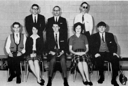 (Click to magnify) FRONT ROW: Wayne Hemington, Georgina Bailey, M. Smith, H. Brown, Ken Kirton; ***SECOND ROW: David Rab