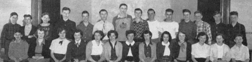 (Click to magnify - original photo is abysmal quality) FRONT ROW: E. Yake, S. Appleton, J. Profit, S. Proctor, A. Nichol