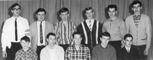(Click to magnify) FRONT ROW: B. Post, W. Jackson, D. Ryan, A. Berry, M. Esmonde; ***BACK ROW: T. Illingworth, Doug Wils