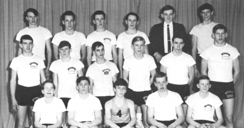 (Click to magnify) FRONT ROW: P. Vandenburg, R. Parish, G. Demchuck, K. Elford, M. Cox; ***SECOND ROW: G. Elford, Rod Ad