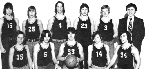 (Click to magnify) FRONT ROW: Rick Sauder, G. Nickolson, Drew Cleland, Tom Armstrong, Mark Gloven; ***BACK ROW: Peter Go