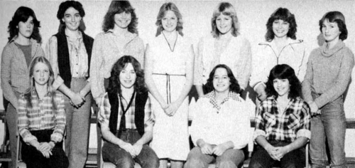 (Click to magnify) FRONT ROW: Roxanne Greenhalgh, Liz Auger, Denise Coppins, Denise Ball; ***BACK ROW: Terri Wilson, Lis