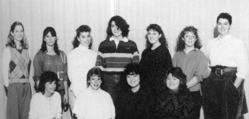 (Click to magnify) FRONT ROW: Bussie Venedam, Melisa Evans, Keiko Nakamura, Nichole Smith; ***SECOND ROW: Ms. K. Mackint