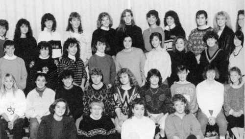 (Click to magnify - edges cut off original (!): FRONT ROW: Daphne Pasterko, Jennifer Magill, Connie Todd, Sharon Marshal